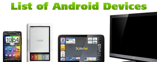 List of Android Devices