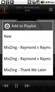 Mixzing Music Player Playlists
