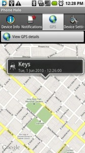 Phone Halo Locate with GPS on Google Maps