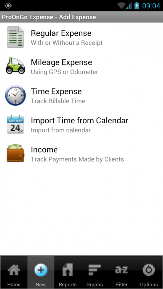 ProOnGo Expense Tracker – take a picture of your receipts & the app creates expense reports for Excel, QuickBooks & more!