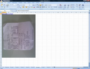 ProOnGo Expense Export to Receipt Image Excel Spreadsheet
