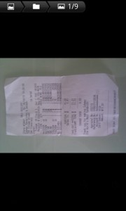 ProOnGo Expense Receipt Image