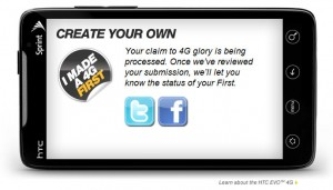 Sprint Evo Create Your Own First