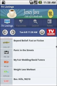 TV Guide Mobile TV Listings