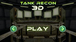 Tank Recon 3D Start Screen
