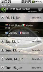 World Cup 2010 FotMob Fixtures