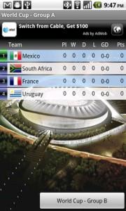 World Cup 2010 FotMob Tables