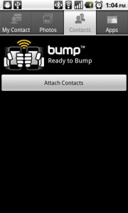 Bump Share Contacts