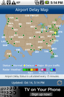 FlightView Airport Delay Map