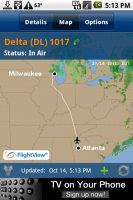 FlightView Map View