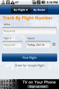 FlightView Track by Flight Number