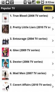 IMDb Movies and TV Popular TV