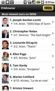 IMDb Movies and TV STARmeter
