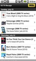 IMDb Movies and TV US Recaps