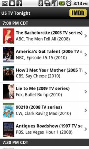 IMDb Movies and TV US Tonight