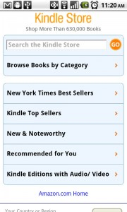Kindle for Android Kindle Store