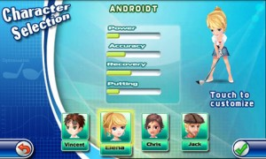 Lets Golf Character Selection