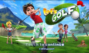Lets Golf Splash Screen