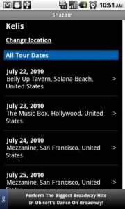 Shazam Tour Date Information