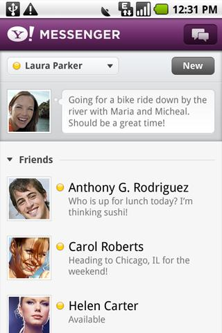 Yahoo Releases Official Messenger, Mail and Search for Android