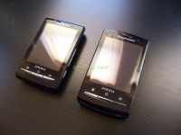 Sony Ericsson Xperia X10 Mini and Mini Pro Angle View