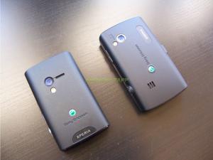 Sony Ericsson Xperia X10 Mini and Mini Pro Back View