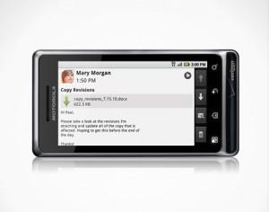 DROID 2 by Motorola on Side