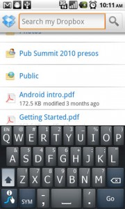 Dropbox for Android Search Feature