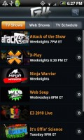 G4TV for Android Shows
