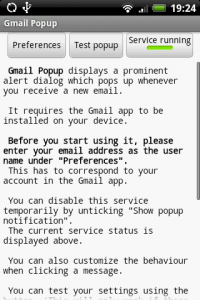 Gmail Popup Settings