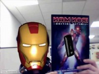 LG Iron Man 2 Augmented Reality Experience Wearing the Mask