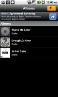 SoundHound for Android Artist Albums