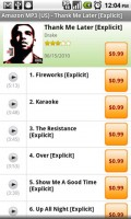 SoundHound for Android Buy Artist Album or MP3 in Amazon MP3 App