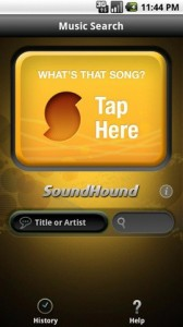 SoundHound for Android Start Tagging Screen