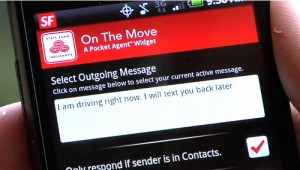 State Farm On The Move Widget for Android Setting Text Message