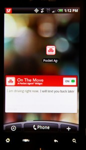 State Farm On The Move Widget for Android on Screen