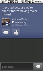 TweetDeck for Android Facebook Integration