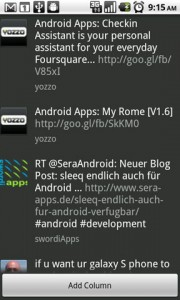 TweetDeck for Android Search Results