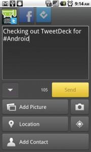 TweetDeck for Android Writing Tweet