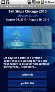 Yachts and Tall Ships Event Details