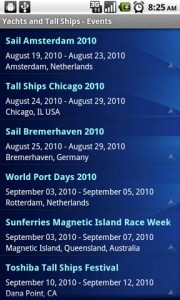 Yachts and Tall Ships Events