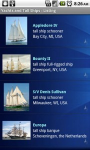 Yachts and Tall Ships Listings