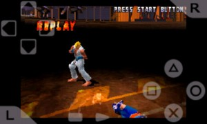 psx4droid PlayStation Emulator Playing Street Fighter Extreme 1