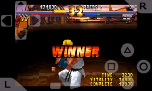 psx4droid PlayStation Emulator Playing Street Fighter Extreme 5