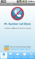 Call Block Unlimited Home Screen