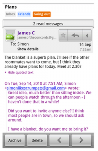 Gmail Android App Version 2.3 Show Hide Quoted Text