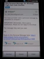 Samsung Captivate Text