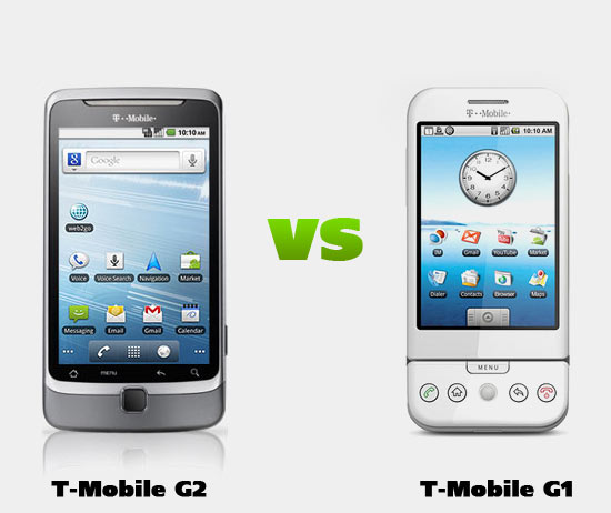 T-Mobile G2 versus T-Mobile G1