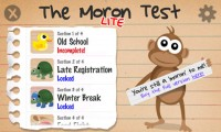 The Moron Test Start Screen