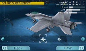 Tom Clancys HAWX for Android Choose Plane